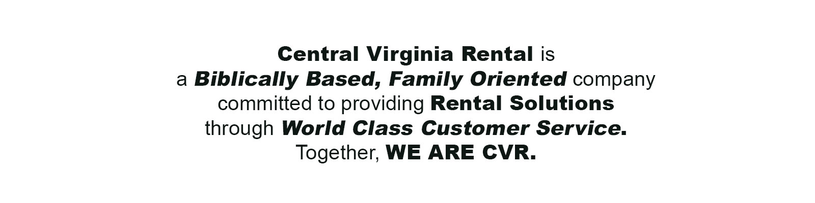 Equipment rentals in Charlottesville, Waynesboro, Harrisonburg, Staunton, and Lexington VA